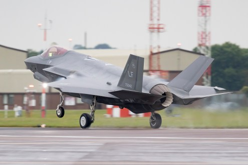 © Michael Lovering - USAF F-35A 12-5042 - F-35 Arrives in the UK