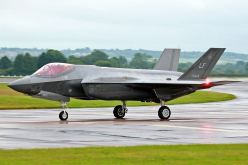 © Mark Kwiatkowski - USAF F-35A 12-5042 - F-35 Arrives in the UK