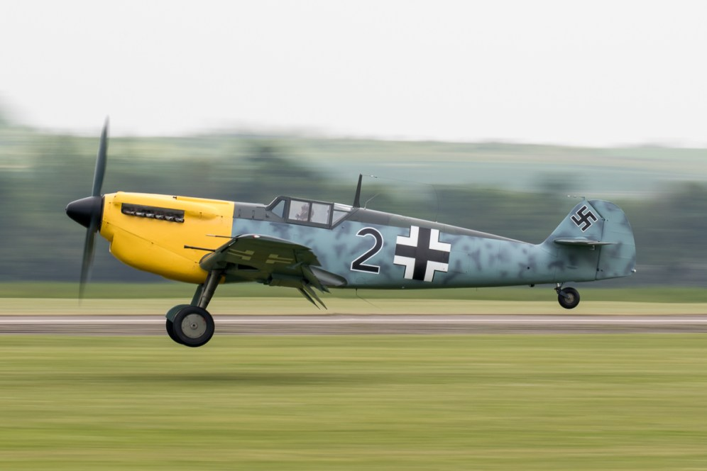 © Adam Duffield - Hispano Buchon Black 2/G-AWHK - Duxford American Air Show 2016