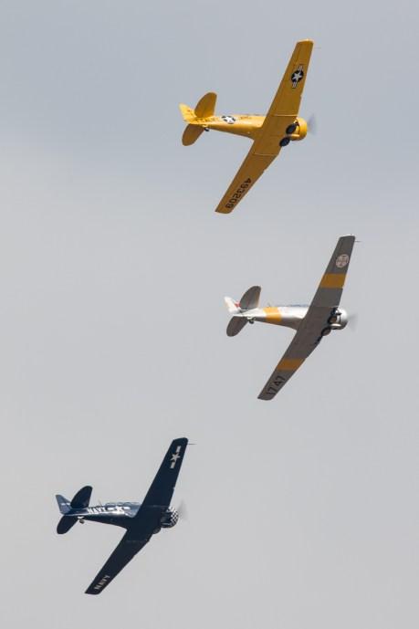 © Adam Duffield - Harvard Trio - Duxford American Air Show 2016