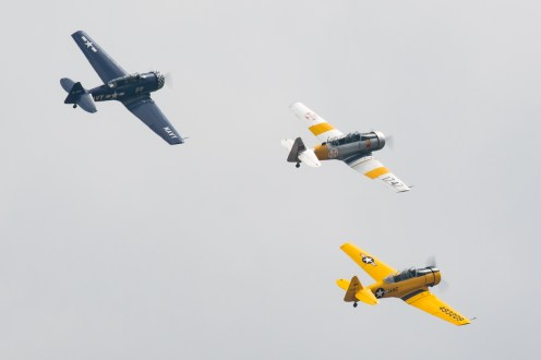 © Adam Duffield - Harvard Trio - Duxford American Air Show 2016