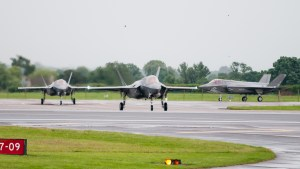 © Duncan Monk - F-35B Trio - First F-35 Lightning IIs arrive in United Kingdom