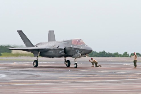 © Duncan Monk - USMC F-35B 168726 - First F-35 Lightning IIs arrive in United Kingdom