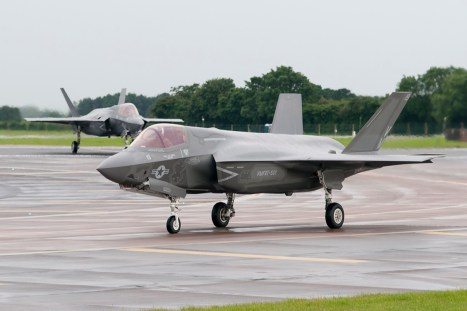 © Duncan Monk - USMC F-35B 168727 - First F-35 Lightning IIs arrive in United Kingdom