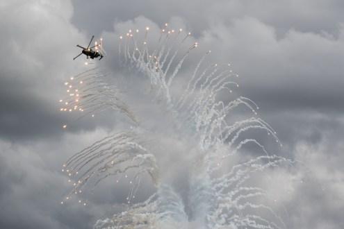 © Adam Duffield - Royal Navy Merlin HC3 Flares - RNAS Yeovilton Air Day 2016