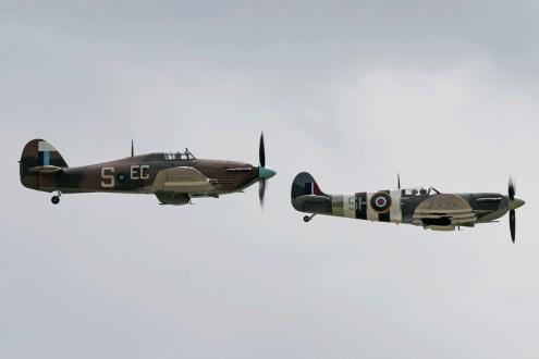 © Duncan Monk - Hurricane Mk IIc PZ865 and Spitfire Mk Vb AB910 - RNAS Yeovilton Air Day 2016