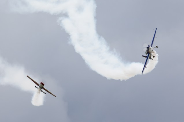 © Adam Duffield - Extra 'Little and Large' Duo - Old Buckenham Airshow 2016