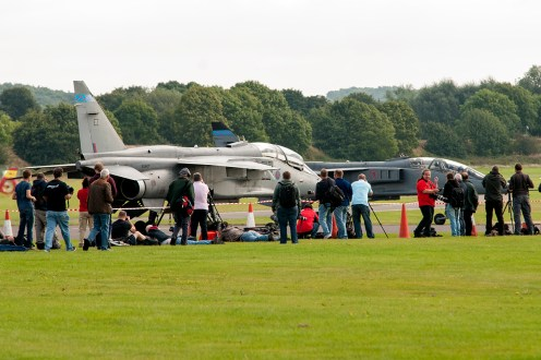 © Duncan Monk - The extensive crowd line for the event - RAF Cosford Jaguars final prowl