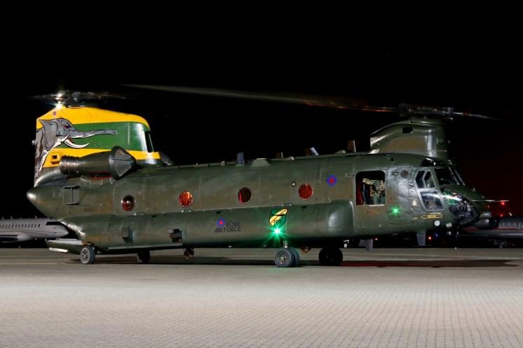 © Jamie Ewan - Royal Air Force Boeing Chinook HC4 ZA683 'Nellie' - Northolt Nightshoot XXI
