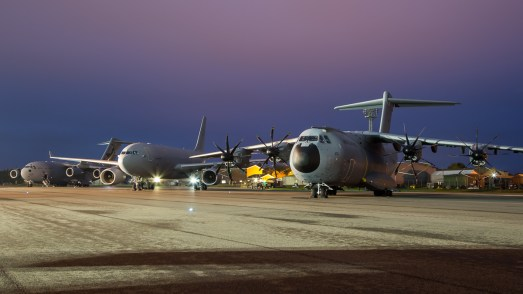 © Adam Duffield - A400M Atlas, A330 Voyager and C-17 - RAF Brize Norton Nightshoot