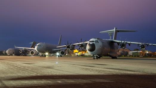 © Adam Duffield - A400M Atlas, A330 Voyager and C-17 - RAF Brize Norton Nightshoot