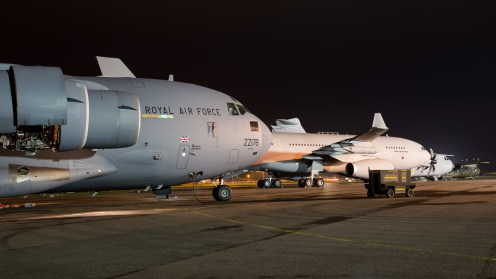 © Adam Duffield - The evenings lineup - RAF Brize Norton Nightshoot