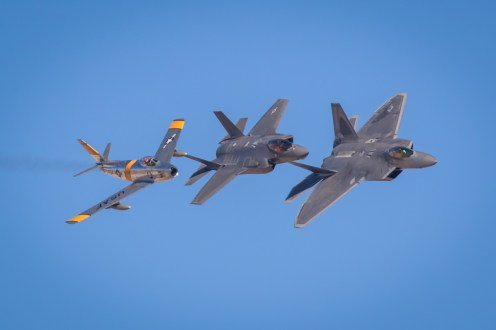 © Paul Smith - Aviation Nation USAF Heritage Flight - Nellis Aviation Nation 2016