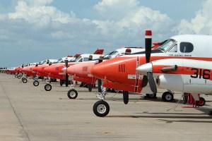 ©Mark Forest - NAS Corpus Christi TAW-4 flight line - US Naval Air Training Command