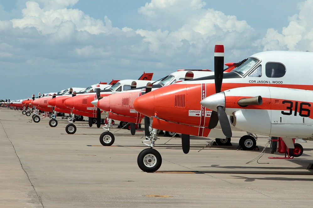 © Mark Forest - NAS Corpus Christi TAW-4 flight line - US Naval Air Training Command