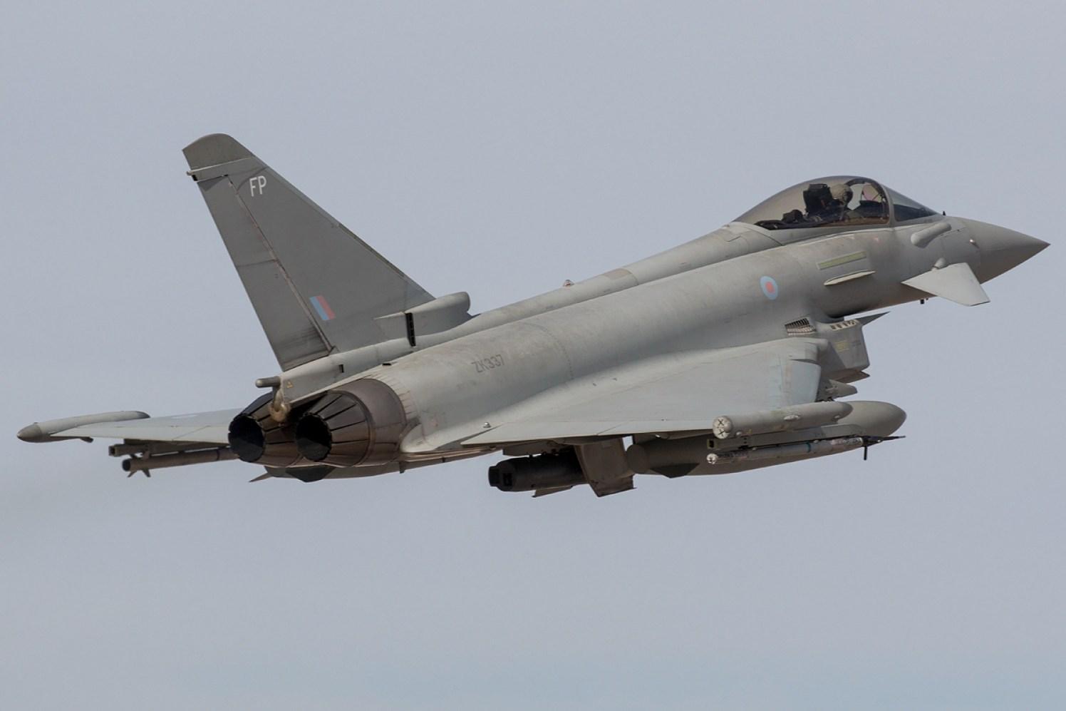 © Kevin Bell - RAF Typhoon FGR4 ZK337 - Red Flag 17-1