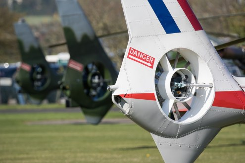 © Adam Duffield - A line up of fenestron rotors - Gazelle 50th Anniversary Fly-in