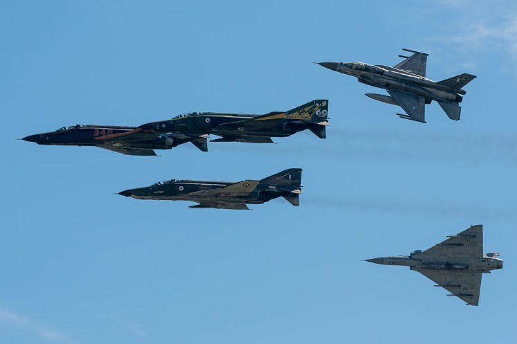 © Duncan Monk - Hellenic Air Force RF-4E Retirement Flypast Formation - Larissa AB