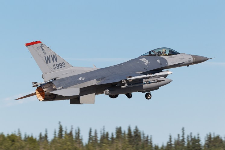 © Mark McGrath - F-16CM-50-CF (92-3892) of 13th FS being flown by pilots of the 14th FS takes off from during Red Flag Alaska 17-2 - Red Flag Alaska 17-2