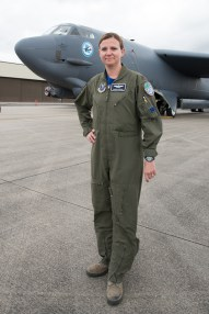 © Duncan Monk - Maj. Sarah Fortin, 20th Bomb Squadron B-52H instructor pilot - USAF Bomber Deployment RAF Fairford