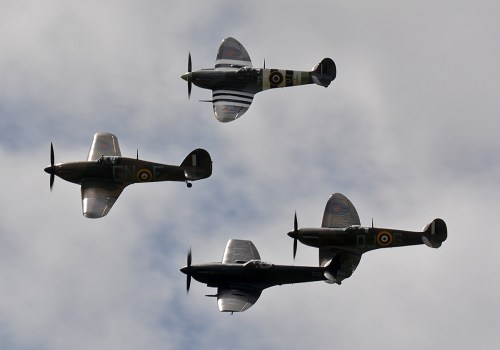 © Niall Paterson - Royal Air Force BBMF Fighters 'Thompson Formation' - RAF Cosford Air Show 2017