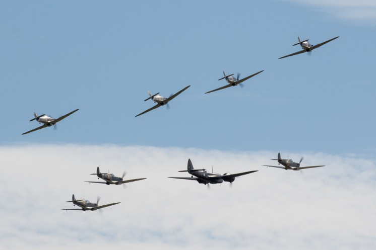 © Adam Duffield - The Battle of Britain formation on Saturday - Flying Legends 2017