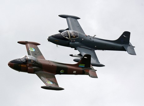 © Niall Paterson - Hunting Percival Jet provost T52 & BAC Strikemaster - RAF Cosford Air Show 2017