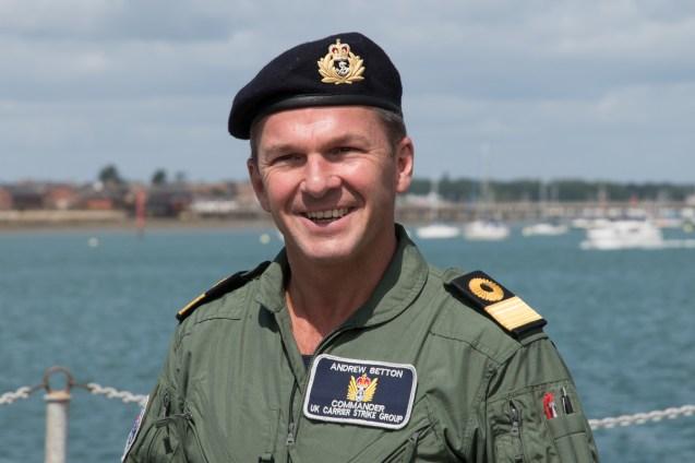 © Duncan Monk - Commodore Betton UK Carrier Strike Group Commander - USS George H W Bush CVN 77