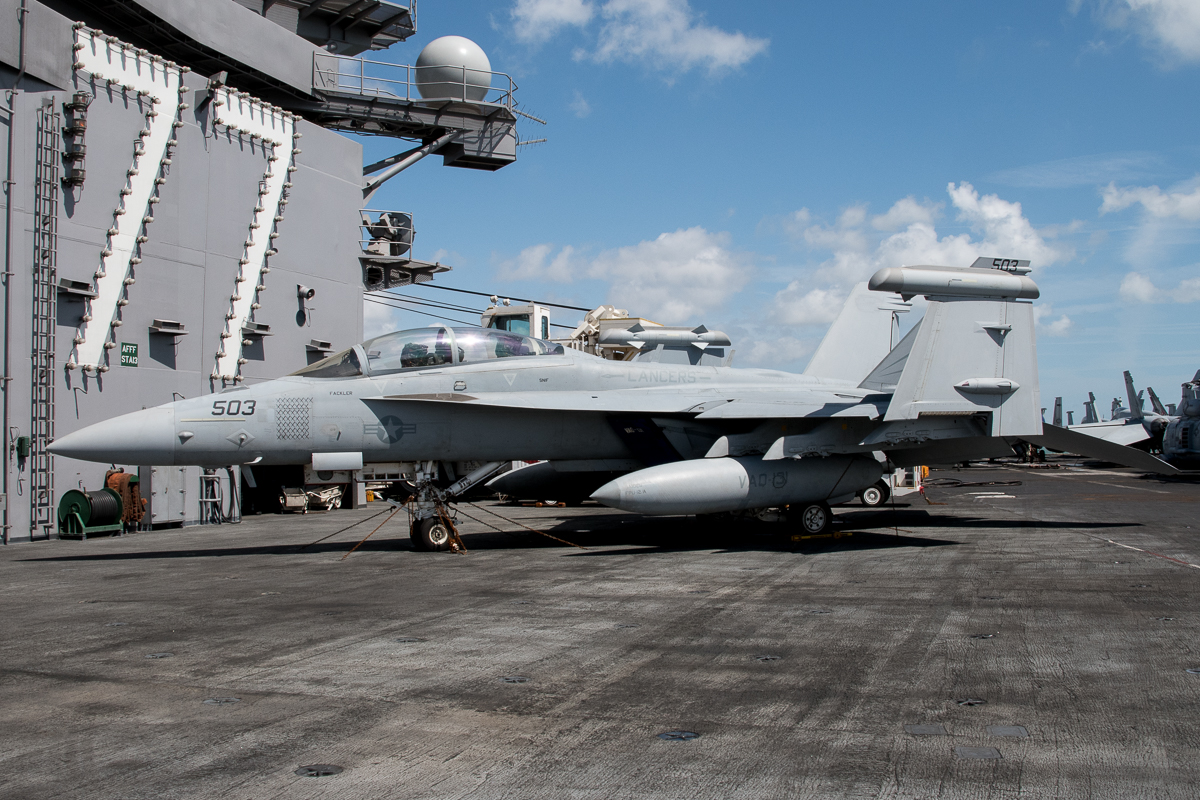 © Duncan Monk - Boeing EA-18G Growler 168775/AJ 503 VAQ-131- USS George H W Bush CVN 77