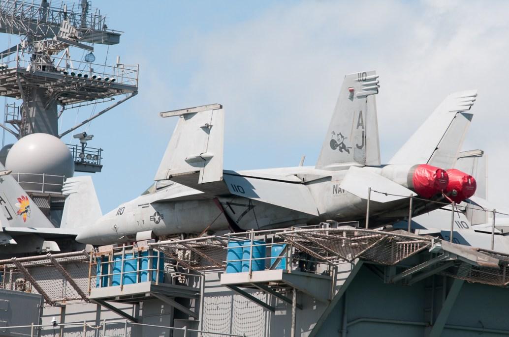 © Duncan Monk - Boeing F/A-18E 166784/AJ 110 - USS George H W Bush CVN 77