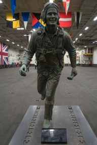 © Duncan Monk - George Bush Bronze Statue - USS George H W Bush CVN 77