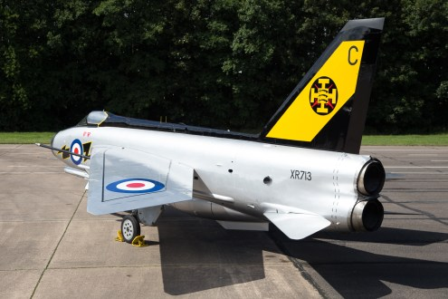© Adam Duffield - English Electric Lightning F3 XR713 111 Sqn markings - Lightning XR713 56 Sqn scheme unveiling