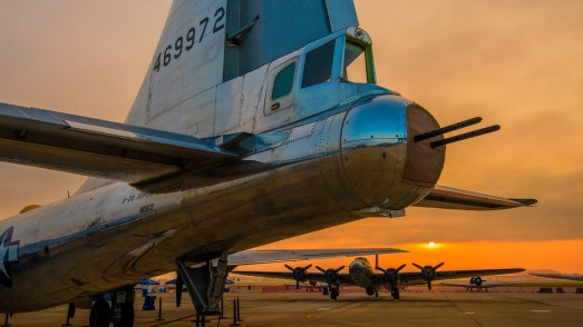 © Doug Monk - Sun rises below the tail of B-29 'Doc' - Joint Base Andrews Air Show 2017