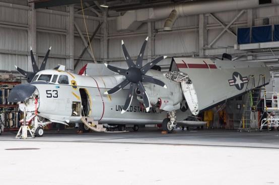 © Adam Duffield - C-2A undergoes maintenance - VRC-40 'Rawhides' – C-2A Greyhound