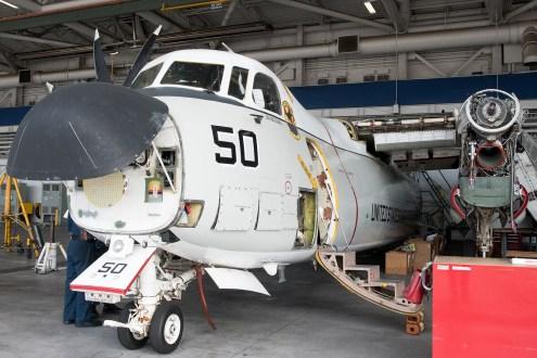 © Duncan Monk - C-2A undergoes maintenance - VRC-40 'Rawhides' – C-2A Greyhound