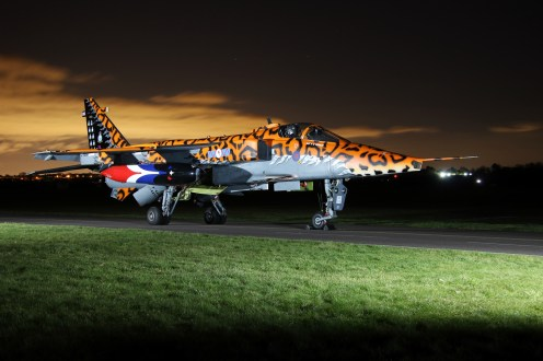 © Jamie Ewan - Royal Air Force (Defence College of Technical Training) SEPECAT Jaguar GR3 XX119 / AI 'Spotty' (238 Squadron) - RAF Cosford Nightshoot