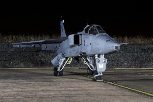© Jamie Ewan - Royal Air Force (Defence College of Technical Training) SEPECAT Jaguar GR3 XZ117 / ES (238 Squadron) - RAF Cosford Nightshoot