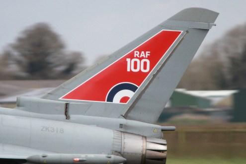 © Jamie Ewan - RAF100 Anniversary Typhoon FGR.4 ZK318 - RAF Typhoon Special Schemes