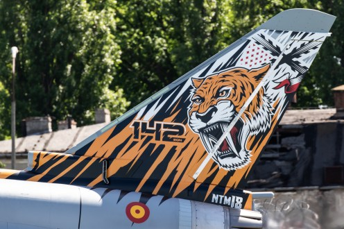 © Adam Duffield - Close up of the 142 Escuadrón EF2000 Typhoon special scheme - NATO Tiger Meet 2018