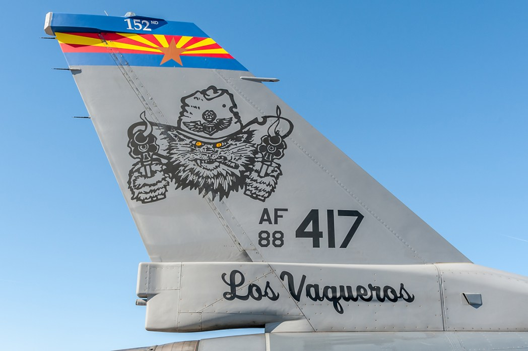 © Doug Monk - 152 Fighter Squadron F-16 Tail - Luke AFB Airshow 2018