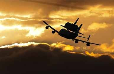 Space Shuttle Sunset Picture