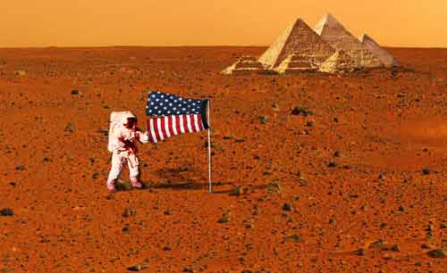 First Astronaut Walk on Mars Picture
