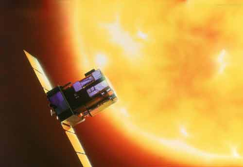 SOHO spacecraft (Solar and Heliospheric Observatory) picture