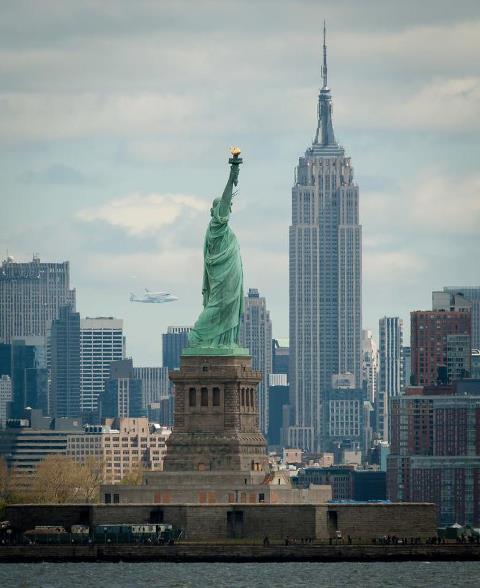 Space Shuttle Enterprise Flight in New York