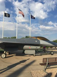 F-16 with Gray Coloring on the Grounds at Hill Aerospace Museum