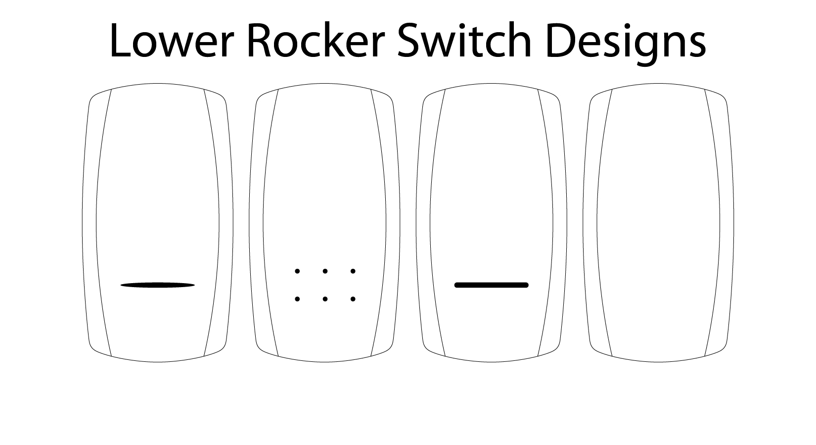Laser Etched Rocker Switches