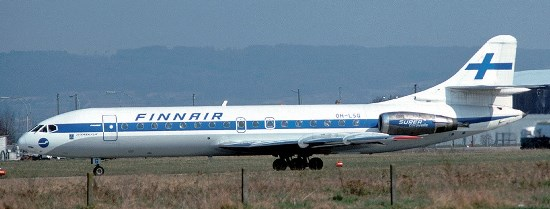 Caravelle de Finnair, fotografiado en 1976 / Foto: Wikipedia