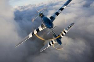 Rassemblement de P-51 Mustang