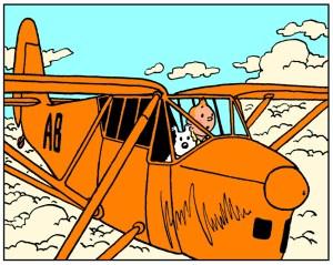Tintin et ses avions…