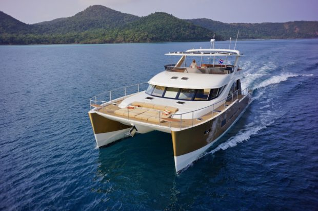 Heliotrope 70 power catamaran